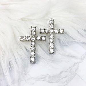 Jewelry - 💎 Cross Rhinestones Earrings